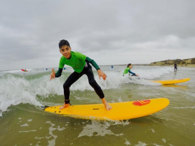 Enjoying Surfing in Conil Spain
