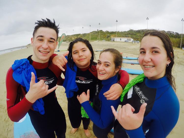 Enjoying Surfing Spain
