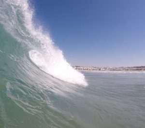 Surfing waves in Conil